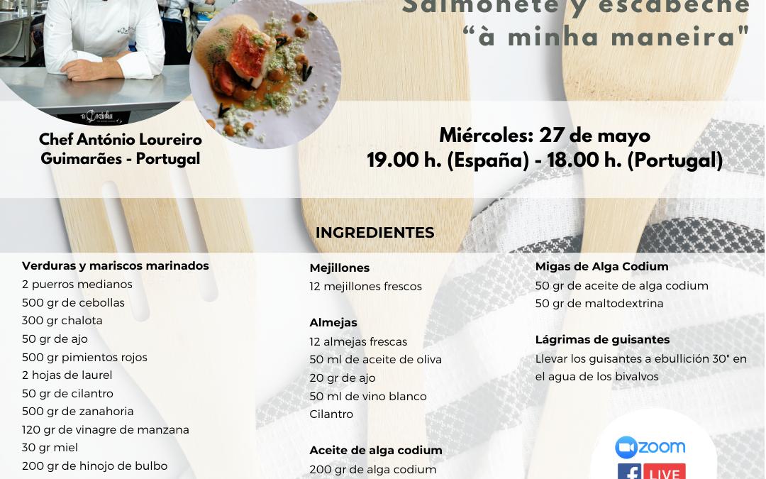 Información sobre el taller de cocina y la cata on line de esta semana